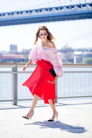 Valentino heels - dior sunglasses - Monica Arguedas blouse
