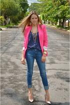 Zara blazer - Zara jeans - pull&bear shirt - Stradivarius heels