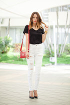 H&M jeans - Kenneth Cole bag - Christian Louboutin heels
