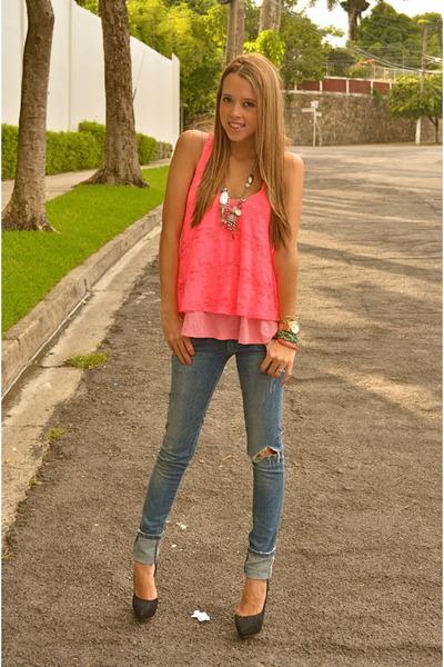 Zara jeans - Bershka heels