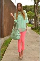 Michael Kors watch - hot pink Jessica Simpson pants - Steve Madden heels