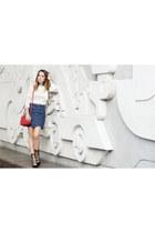 Zara blouse - Gucci bag - Zara heels