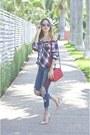Zara-jeans-ruby-red-gucci-bag-dior-sunglasses