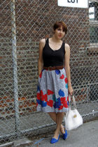vintage accessories - vintage skirt - vintage shoes