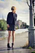 black H&M Trend skirt - navy Topshop jacket