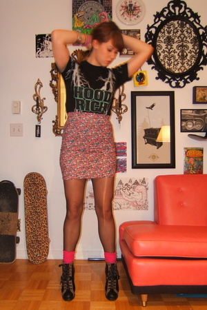 t-shirt - DIY skirt - welovecolorscom socks - Marc by Marc Jacobs