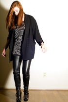 black wilfred blazer - black Joy Division top - black H&M pants - black Marc by