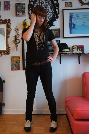 aa t-shirt - J Brand jeans - wilfred sweater - Jeffrey Campbell shoes