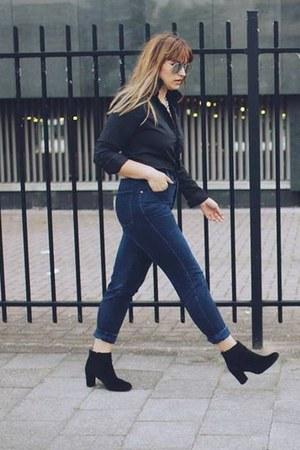 H&M boots - vintage jeans - asos shirt - Primark sunglasses