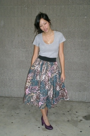 Jcrew shirt - H&amp;M skirt - Frye shoes