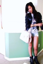Marc Jacobs shirt - H&M jacket - Levis Vintage Collection shorts - Urban Outfitt