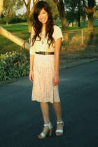 Ron Herman t-shirt - Nordstrom belt - vintage skirt - Chloe shoes