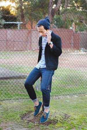 black denim jacket forever 21 men jacket - navy stomper jeans Wrangler jeans