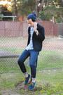Navy-stomper-jeans-wrangler-jeans-navy-beanie-cotton-on-hat
