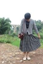 black white stripes stripes skirt skirt - black dress