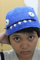 blue ugly doll hat