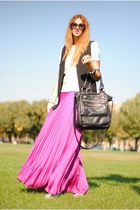 bubble gum maxi skirt Topshop skirt - zebra boots unknown boots