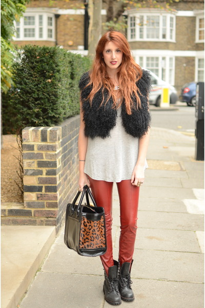 Ruby Red Leather Pants Bsb Black