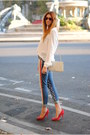 American-flag-topshop-jeans-white-silk-zara-shirt-cream-vintage-purse