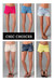 Exposed-pocket-denim-shorts