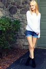 Silver-h-m-sweater-blue-delias-shorts-black-bamboo-shoes