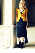 black vintage dress - gold Target cardigan - black Bamboo shoes - black Juicy Co