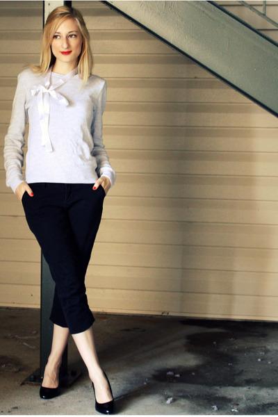 gray H&M sweater - white Target accessories - black Delias pants - black Target
