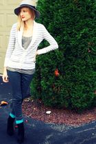 gray H&M hat - gray American Eagle cardigan - silver Old Navy top - gray Target