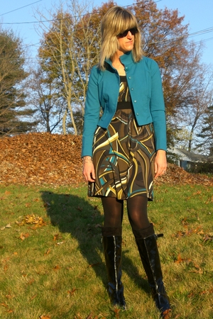 WorthWear jacket - WorthWear dress - Via Spiga boots - Stella & Dot earrings - S