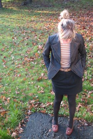 H&M blazer - Gap shirt - Gap skirt - Target belt - Michael Michael Kors shoes