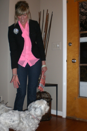 Thrifted Dana Buchman jacket - liz claiborne blouse - Old Navy jeans - vintage a