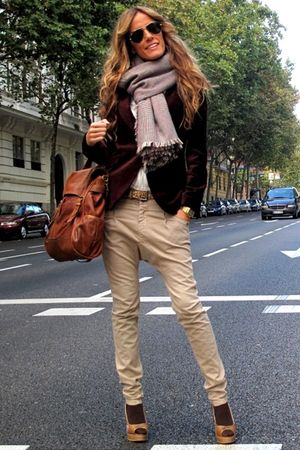 Massimo Dutti bag - Zara blazer - Zara blouse - Zara scarf - Bershka jeans - Gio