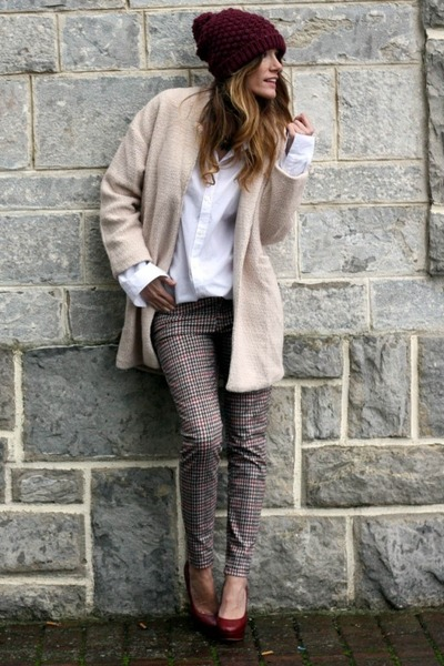 Choies coat - Zara pants