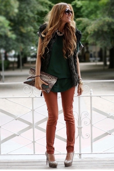 Zara vest - Stradivarius pants - oppure sweatshirt