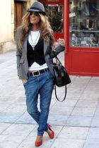 Massimo Dutti blazer - Marypaz shoes - Bimba y Lola bag - Sfera hat