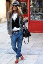 Massimo Dutti blazer - Marypaz shoes - Bimba y Lola bag - Sfera hat