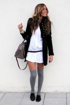 Zara jacket - Zara shirt - Bimba & Lola bag