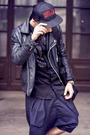 Adidas hat - Topman jacket - H&M shirt - Cargo bag - Henric Vibskov pants
