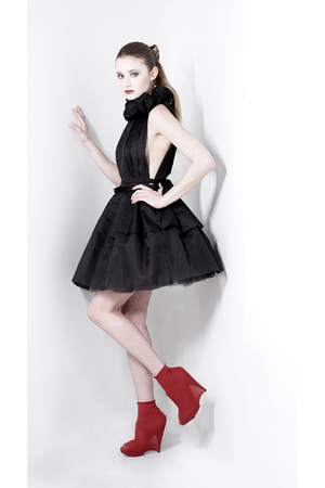 black silk organza reddoll dress
