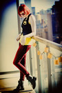Yellow-h-m-shirt-brick-red-asos-jeans-navy-h-m-vest