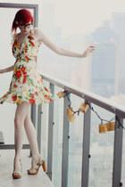 light yellow sheer thrifted dress