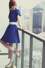 Navy-modcloth-dress-white-custom-shoes-wedges