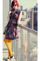 gold We Love Colors tights - navy Who Killed Bambi dress