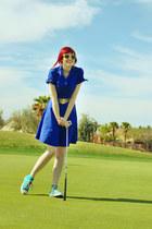 aquamarine Converse shoes - blue modcloth dress