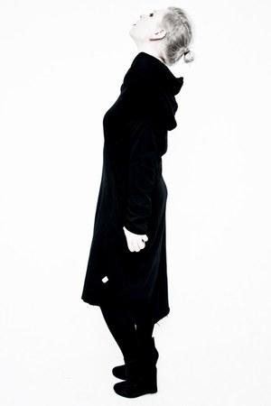 black H&M boots - black anoi dress