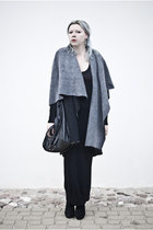 heather gray maniaszyciablogspotcom coat - black deezee boots