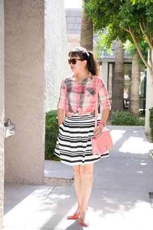 cotton Loft top - color Target shirt - design Miztique bag - stripes Loft skirt
