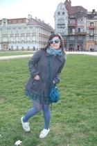 H&M purse - H&M coat - Vans shoes - Mango glasses - BSB dress