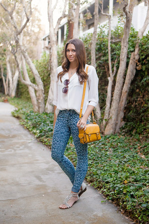 warehouse bag - Tobi shirt - free people sunglasses - Zara pants
