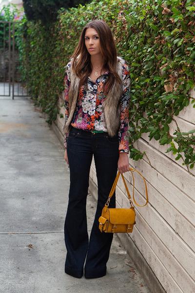 J Brand jeans - Zara shirt - warehouse bag - H&M vest - 2020AVE necklace